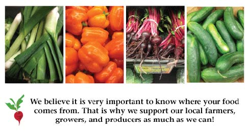 We support local suppliers & growers